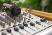 Closeup photo of an audio mixer — Stock Photo