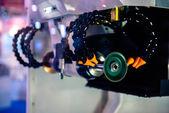 Cortadora de acero en fábrica — Foto de Stock