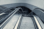 Moving escalator in the business center — Stockfoto