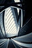 Moving escalator in the business center — Foto de Stock