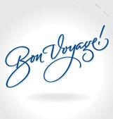 'Bon Voyage' hand lettering (vector) — Vector de stock