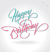 'happy birthday' hand lettering (vector) — Vetor de Stock