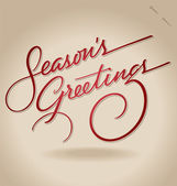 'Season's Greetings' hand lettering (vector) — ストックベクタ