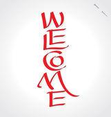 'Welcome' hand lettering (vector) — Stock Vector