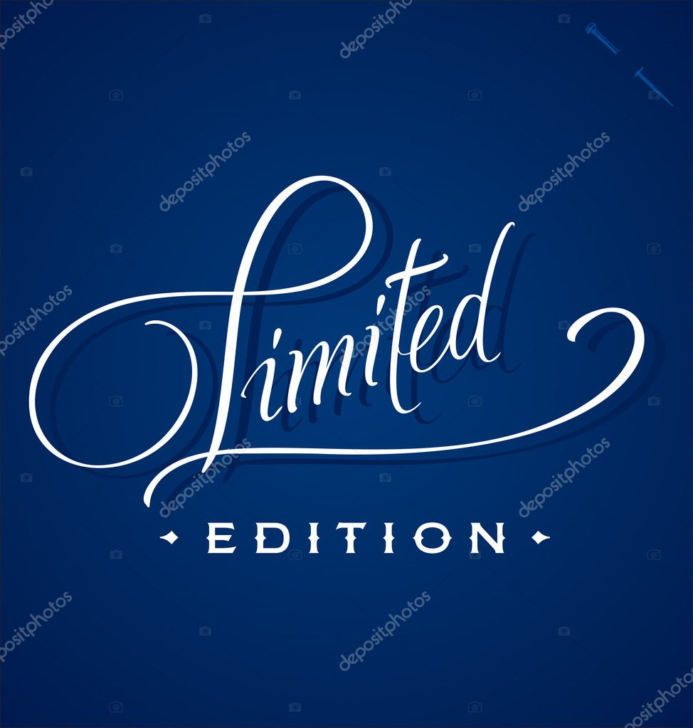 LIMITED hand lettering - handmade calligraphy, vector (eps8) — Stock Vector #13146014
