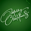 MERRY CHRISTMAS hand lettering (vector) — Stock Vector #13491723