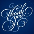 THANK YOU hand lettering (vector) - Stock Vector