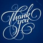 THANK YOU hand lettering (vector) — Vecteur