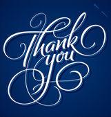 Vi ringrazio mano lettering (vector) — Vettoriale Stock