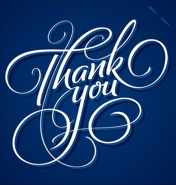 THANK YOU hand lettering (vector)