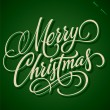MERRY CHRISTMAS hand lettering (vector) — Stockvektor  #14835743