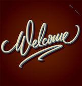 Letras de la mano de bienvenida (vector) — Vector de stock