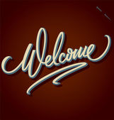 WELCOME hand lettering (vector) — ストックベクタ