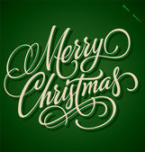 MERRY CHRISTMAS hand lettering (vector) — Stock Vector