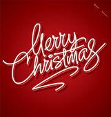 MERRY CHRISTMAS hand lettering (vector) — Stok Vektör