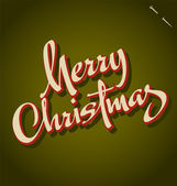MERRY CHRISTMAS hand lettering (vector) — Vetorial Stock