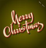 MERRY CHRISTMAS hand lettering (vector) — Stockvector
