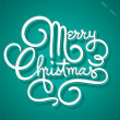 MERRY CHRISTMAS hand lettering (vector) — Stock Vector #14881323