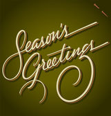 SEASON'S GREETINGS hand lettering (vector) — Wektor stockowy