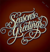 SEASON'S GREETINGS hand lettering (vector) — Vector de stock