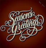 Saludos mano letras de temporada (vector) — Vector de stock