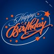HAPPY BIRTHDAY hand lettering (vector) - Vettoriali Stock