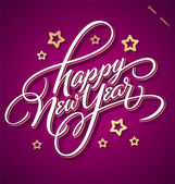 HAPPY NEW YEAR hand lettering (vector) — Vettoriale Stock