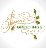 SEASON'S GREETINGS hand lettering (vector) — Vettoriale Stock