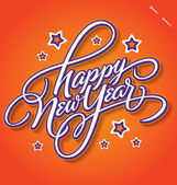 HAPPY NEW YEAR hand lettering (vector) — Stok Vektör