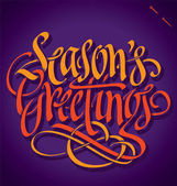 SEASON'S GREETINGS hand lettering (vector) — Stock Vector