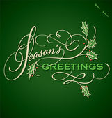 SEASON'S GREETINGS hand lettering (vector) — Stock vektor