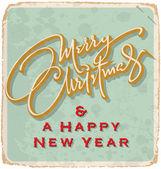 Hand-lettered Christmas card (vector) — Stockvector