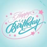 HAPPY BIRTHDAY hand lettering (vector) — Stock Vector