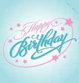 HAPPY BIRTHDAY hand lettering (vector) — Vector de stock