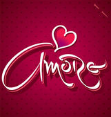 AMORE hand lettering (vector) — Stock Vector