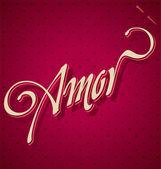AMOR hand lettering (vector) — Stock Vector