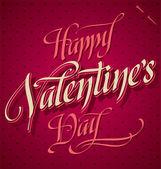 HAPPY VALENTINE'S DAY hand lettering (vector) — Stock Vector