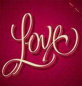 LOVE hand lettering (vector) — Διανυσματικό Αρχείο