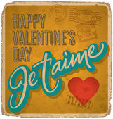 Hand-lettered Valentines card (vector) — Vector de stock