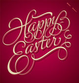 HAPPY EASTER hand lettering (vector) — Vettoriale Stock