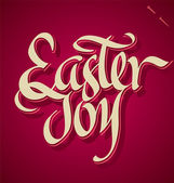 EASTER JOY hand lettering (vector) — Vector de stock