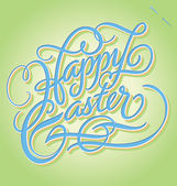 HAPPY EASTER hand lettering (vector) — Stock Vector