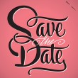 SAVE THE DATE hand lettering (vector) — Vettoriale Stock
