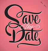 SAVE THE DATE hand lettering (vector) — Stok Vektör
