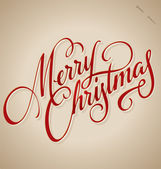 MERRY CHRISTMAS hand lettering (vector) — ストックベクタ