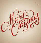 Mano letras feliz navidad (vector) — Vector de stock