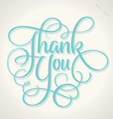 THANK YOU hand lettering (vector) — Vettoriale Stock