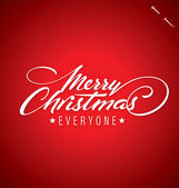 MERRY CHRISTMAS hand lettering (vector) — Stockvektor