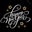 HAPPY NEW YEAR hand lettering (vector) — Vector de stock