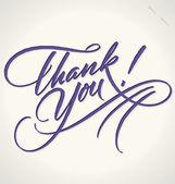 Gracias mano letras (vector) — Vector de stock